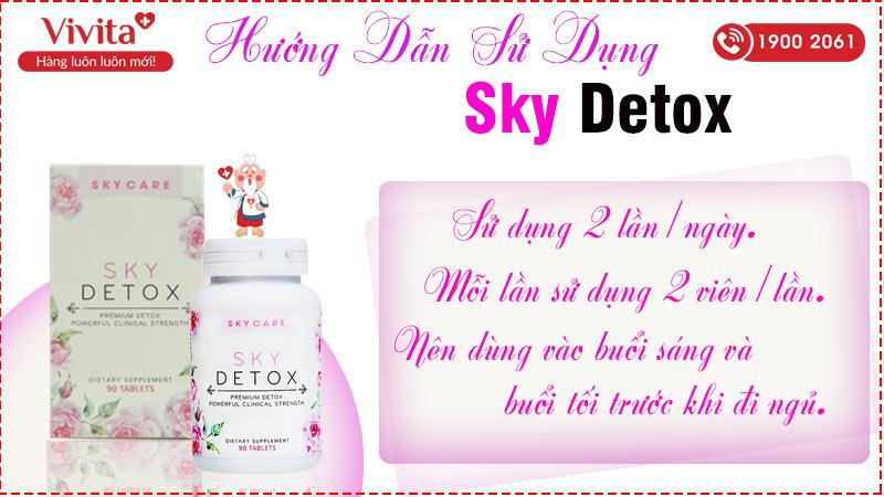 hướng dẫn sử dụng sky detox