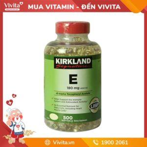 Vitamin E Kirkland 400 IU (500 viên) - Phục Hồi Làn Da Căng Mịn, Tươi Sáng Tự Nhiên