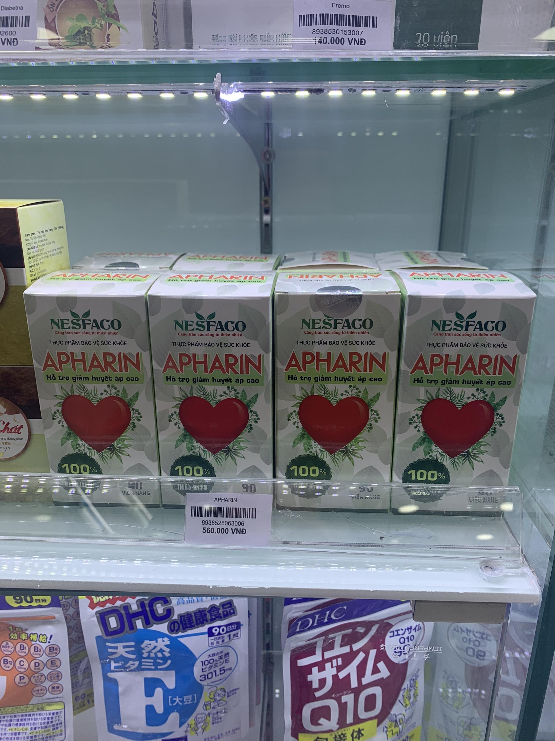 Viên Uống Apharin   Hỗ Trợ Ổn Định Huyết Áp   Hộp 90 Viên