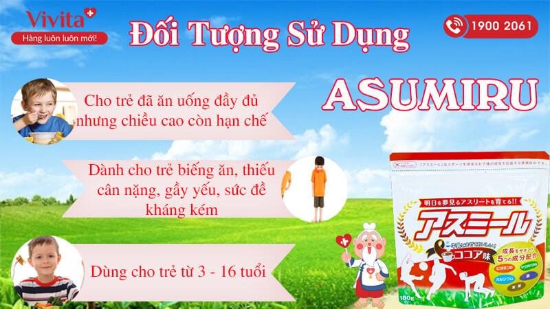 đối tượng sử dụng asumiru