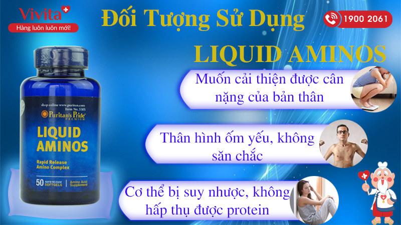 đối tượng sử dụng liquid aminos