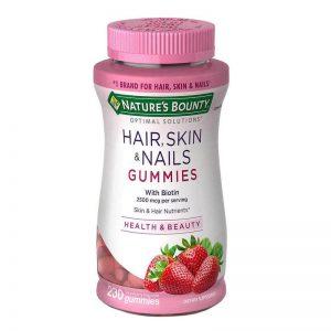 hair skin nails gummies with biotin