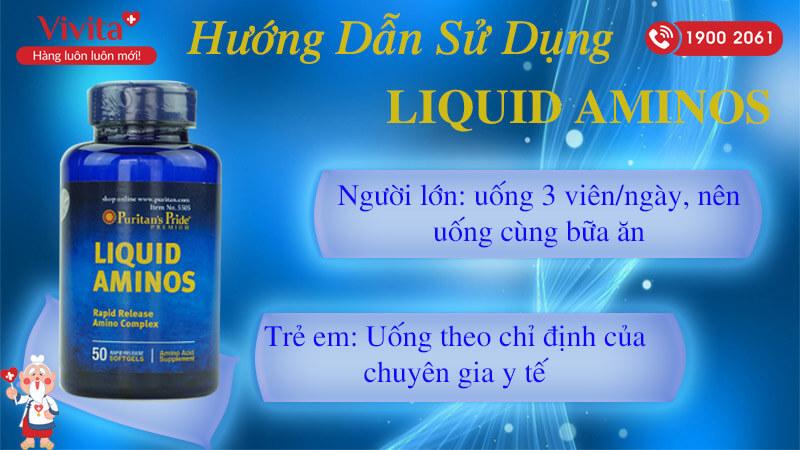 hướng dẫn sử dụng liquid aminos