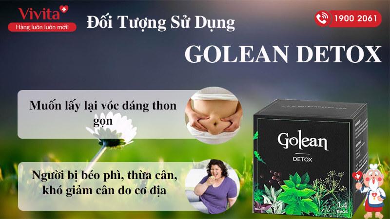 đối tượng sử dụng golean detox