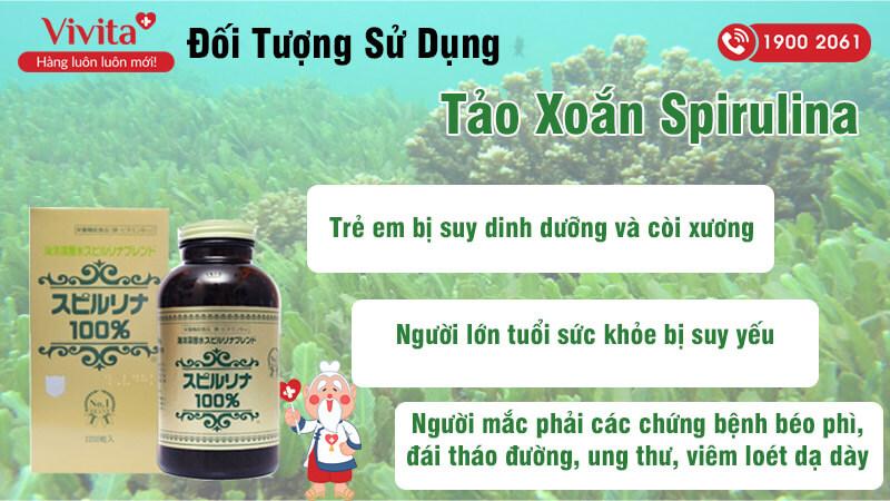 đối tượng sử dụng tảo xoắn spirulina