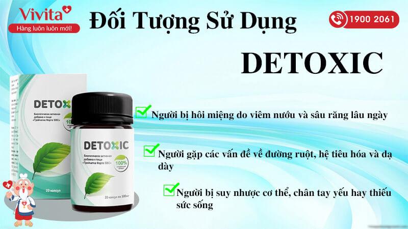 đối tượng sử dụng viên uống detoxic
