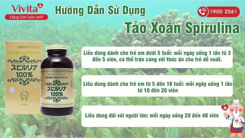 hướng dẫn sử dụng tảo xoắn spirulina
