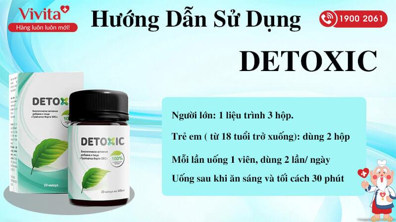 hướng dẫn sử dụng viên uống detoxic