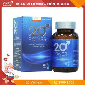 20 Power - Hỗ Trợ Tăng Cường Khả Năng Sinh Lý Cho Nam Giới