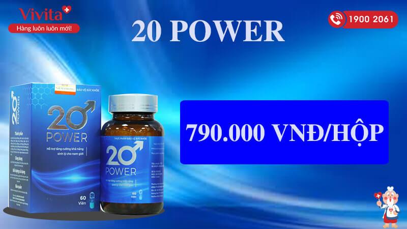 20 power giá bao nhiêu