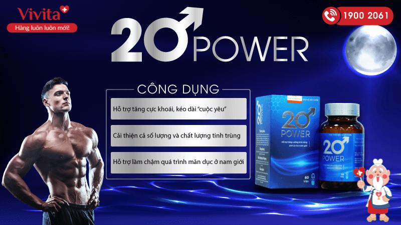 công dụng 20 power
