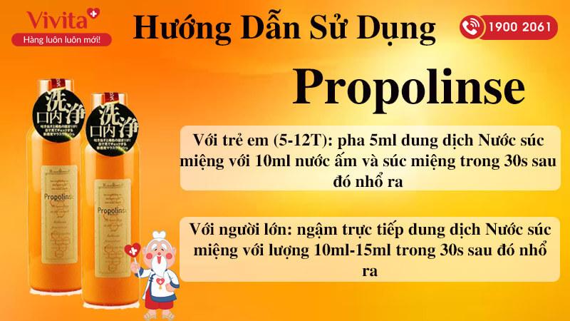 hướng dẫn sử dụng nước súc miệng propolinse