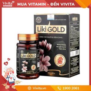 Liki Gold | Hỗ trợ điều trị viêm xoang, mũi | Hộp 60v