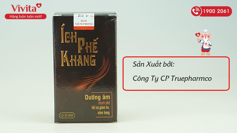 Ích Phế Khang được sản xuất bởi công ty CP Truepharmco