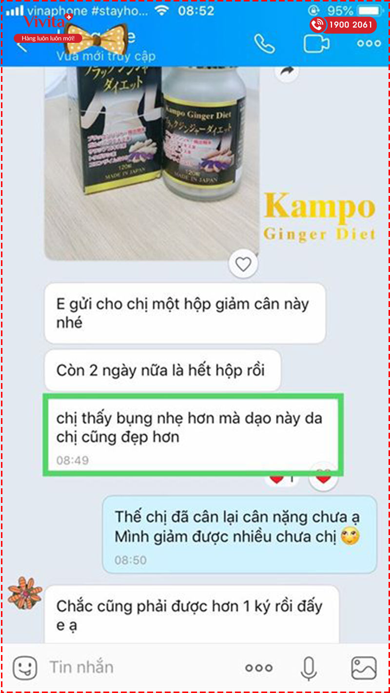 giam can kampo ginger diet