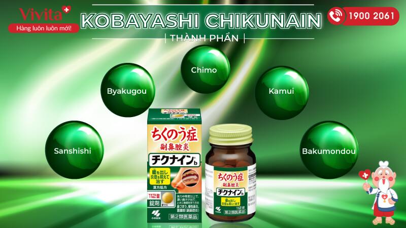viên uống kobayashi chikunain