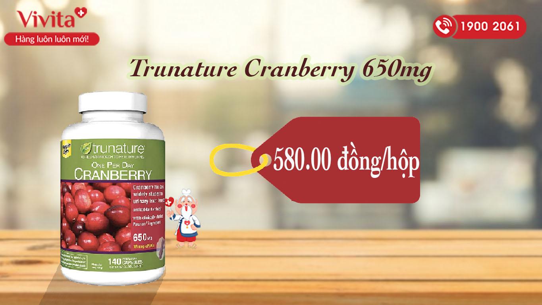 Viên Trunature Cranberry 650mg