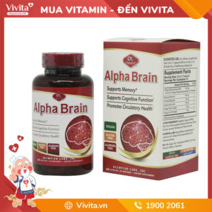 Alpha Brain - Hỗ Trợ Tuần Hoàn Não, Bảo vệ Não Bộ, Ngăn Ngừa Teo Não: