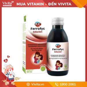 Ferrofyc Solucion - Nước uống bổ sung lượng sắt, phòng ngừa bệnh thiếu máu