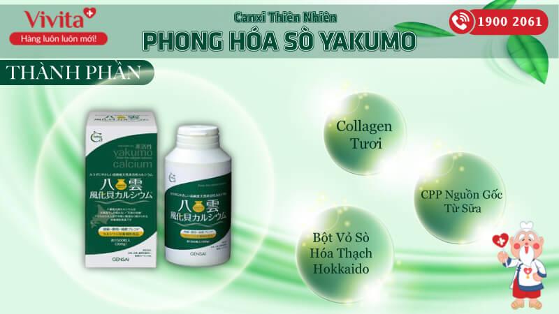 canxi thiên nhiên phong hóa sò yakumo