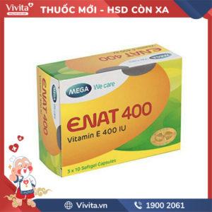 Thuốc bổ sung vitamin E Enat 400 Hộp 30 viên