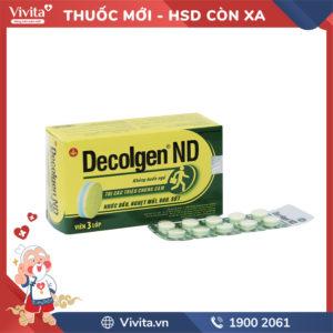 Thuốc trị cảm cúm Decolgen ND Không gây buồn ngủ Hộp 120 viên