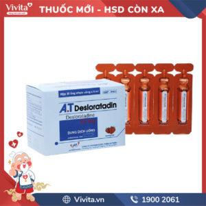 Dung dịch uống chống dị ứng A.T Desloratadine hương Dâu 5ml Hộp 30 ống