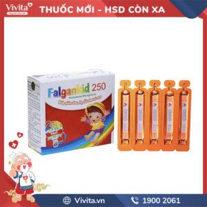 Dung dịch uống giảm đau, hạ sốt cho trẻ em Falgankid 250 hộp 20 ống
