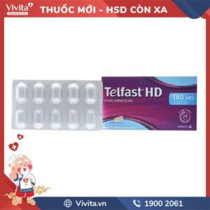 Thuốc chống dị ứng Telfast BD 180mg Hộp 10 viên