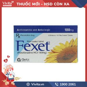 Thuốc chống dị ứng Fexet 180mg Hộp 20 viên