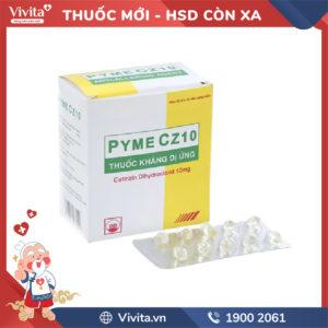 Thuốc chống dị ứng Pyme CZ10 Hộp 100 viên
