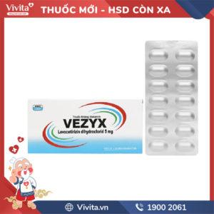 Thuốc chống dị ứng Vezyx 5mg Hộp 28 viên