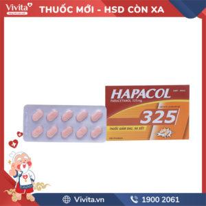 Thuốc giảm đau, hạ sốt Hapacol 325mg Hộp 100 viên