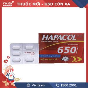 Thuốc giảm đau, hạ sốt Hapacol 650mg Hộp 50 viên