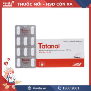 Thuốc giảm đau, hạ sốt Tatanol 500mg Hộp 100 viên