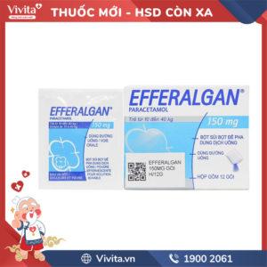 Thuốc giảm đau, hạ sốt cho trẻ em Efferalgan 150mgHộp 12 gói