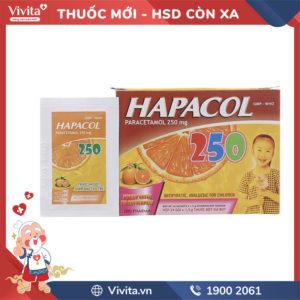 Thuốc giảm đau, hạ sốt cho trẻ em Hapacol 250mg Hộp 24 gói
