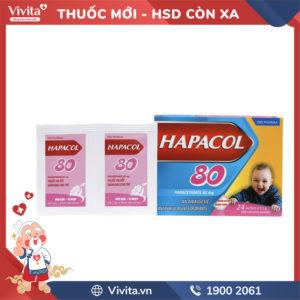 Thuốc giảm đau, hạ sốt cho trẻ em Hapacol 80mg Hộp 24 gói