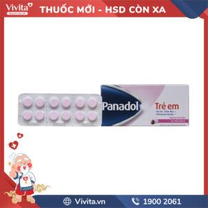 Thuốc giảm đau, hạ sốt cho trẻ em Panadol 120mg Hộp 96 viên