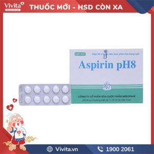 Thuốc giảm đau, kháng viêm Aspirin pH8 500mg Hộp 200 viên