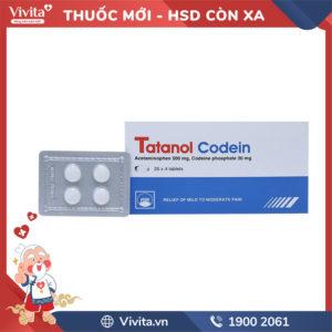 Thuốc giảm đau Tatanol Codein Hộp 80 viên