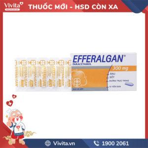 Viên đặt giảm đau, hạ sốt Efferalgan 300mg Hộp 10 viên