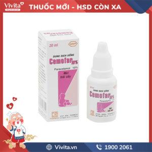 Dung dịch uống giảm đau, hạ sốt cho trẻ em Cemofar 10% Chai 20ml