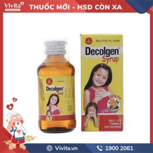 Siro trị cảm cúm cho trẻ em Decolgen hương trái cây Chai 60ml
