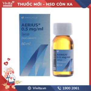 Siro trị viêm mũi dị ứng Aerius 0.5mg/ml Chai 60ml