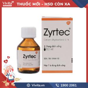 Siro chống dị ứng Zyrtec 0.1% Chai 60ml