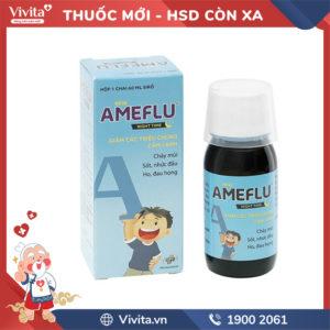 Siro trị cảm lạnh cho trẻ em Ameflu Night Time Chai 60ml