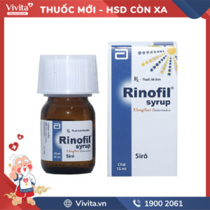 Siro trị viêm mũi dị ứng, mày đay Rinofil Chai 15ml
