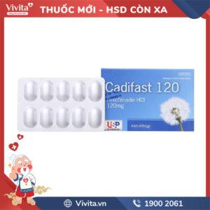 Thuốc chống dị ứng Cadifast 120mg Hộp 30 viên