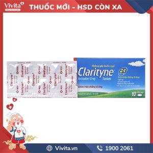 Thuốc chống dị ứng Clarityne 10mg Hộp 10 viên